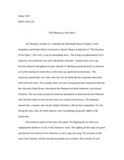 "Paper on ""The Phantom of the Opera"""