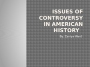 Issue of Controversy week 9