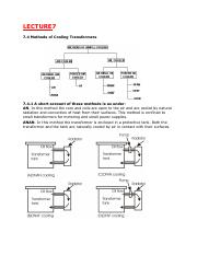Methods of Cooling Transformers.