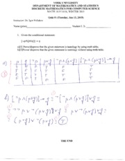 MATH 1019 Quiz 1 Winter 2015