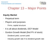 Chapter 13 - Major Points
