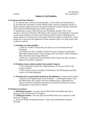 Government Outline- Chapter 12