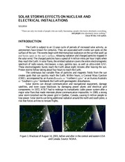 Solar Storms Effects on Nuclear and Electrical Installations