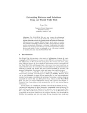 Extracting patterns and relations from the world wide web