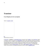 Transistor - Wikipedia, the free encyclopedia