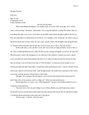 Narrative Essay Final Draft