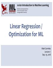 7 - Linear Regression