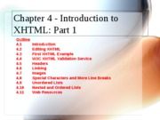 XHTML Part 1