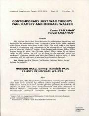 Contemporary just war theory