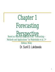 Chapter 1 Forecasting Perspective