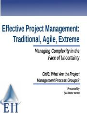 EPM7e Slides Ch03 What Are the Project Management Process Groups