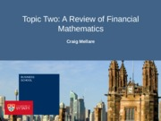 Topic Two - Financial Mathematics(1)