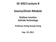 EE4353_Lecture_8_Shallowjunction_Salicide