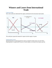 Winners and Losers from International Trade