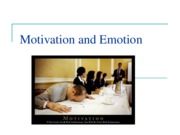 9 Motivation and emotion