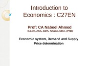 Lecture 2 - Demand & Supply