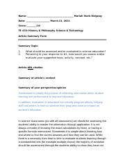 3 (Bb(5))Article summary form