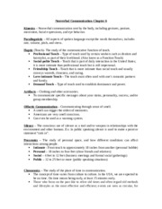 Human Communications Exam 2 Study Guide
