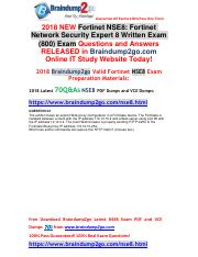 2018 Braindump2go New Fortinet NSE8 Dumps PDF and NSE8 Dumps VCE 70Q&As Free Share(34-44).pdf