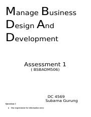Assessment  manage business (BSBADM506).docx
