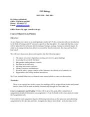 BSC1920.SyllabusFall2014Updated