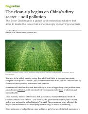 004-The clean-up begins on Chinas dirty secret – soil pollution  Environment  guardian.co.uk
