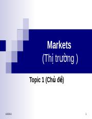 Topic 1_Markets