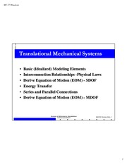 Translational Mechanical System