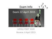 GEOG 1020 Review