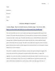 Is Racism a Biological Conception (1).docx