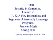 Lecture-8 -Assembly-Language