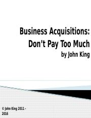 Business Acquisitions (1)