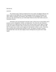 music 100 essay