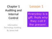 Chap01 Auditing and Internal Control _ Lesson 1 student