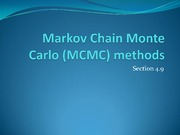 Markov Chain Monte Carlo Methods