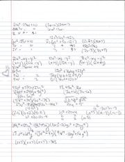 Tri and Binomial Factoring Notes