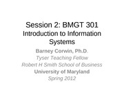 "Session 2 BMGT301 â€"" Spr 2012 rev 0"