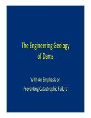 The Geology of Dams Lecture