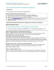 u2 assessment customer service level 2