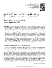Ford, J._ Harding, N. -- Move Over Management- We Are All Leaders Now.pdf