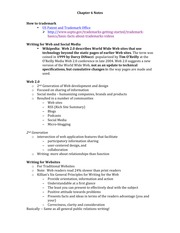 CH 6 Blogging Notes