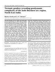 microearthquake seismology and seismotectonics of south asia kayal j r