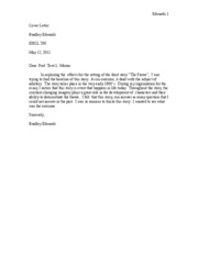 Cover letter throughout the story the constant changing for Great short cover letters