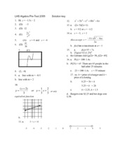 alg2-pretest2005-answers