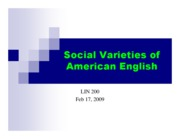 Microsoft PowerPoint - Class 5 [SOCIAL VARIETIES OF ENGLISH - LINGUISTIC VARIABLES]09jcw