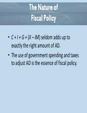 Essential of Economics Chapter 12 - Nature of Fiscal Policy Power Point