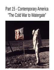 Part 15 - Contemporary America.ppt