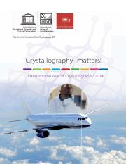 INTERNATIONAL YEAR OF CRYSTALLOGRAPHY