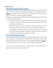 Dividend theories fin 435.docx