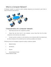 What is a Computer Network.docx
